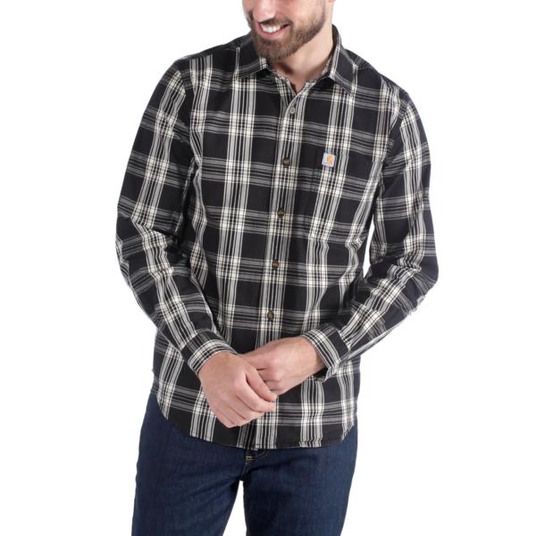 Carhartt - Essential Open Collar Skjorte Herre, 100% Bomuld