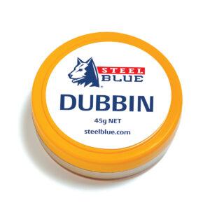 Steel Blue - Dubbin Leather wax  farve blanco. str-