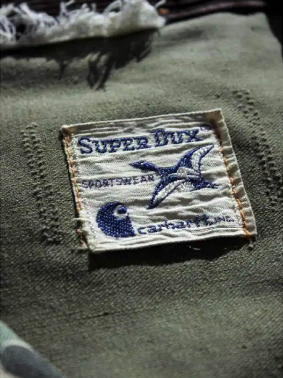 1972 Carhartt Super Dux Camouflage Hunting Coat.